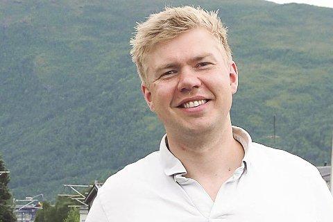 FONØYD: Vegard Lind-Jæger er rørt over givergleden i Narvik til årets TV-aksjon. Arkivfoto