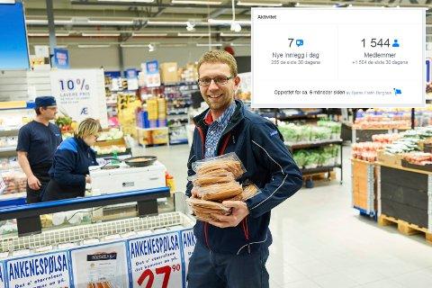 STØRST: Harald Anthonsen driver Rema Ankenes, og nesten doblet overskuddet fra 2018 til 2019. Forklaringen er økt fokus på kostnader og svinn. Blant annet er alle lysene skiftet ut til leddlys. Arkivfoto