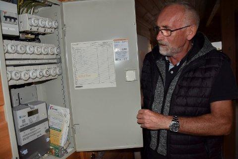 Spydeberg-mannen Børre Johansen forteller at det målte strømforbruket hans har gått vesentlig ned siden målerbyttet.