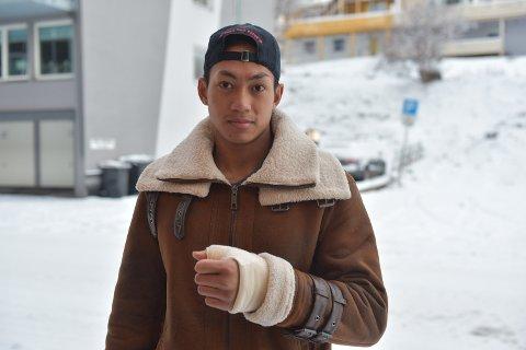 Hockeyspiller Tan Hellerød i Arctic Eagles.