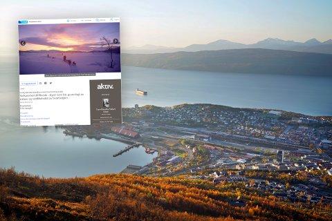 FÅR OPPMERKSOMHET: Denne annonsen (innfelt), hvor hele Narvik forsøkes solgt, får mye oppmerksomhet.