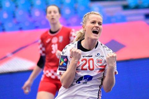 I CHAMPIONS LEAGUE-KAMP:Marit Røsberg Jacobsen, håndballlandslagsspiller fra Narvik.