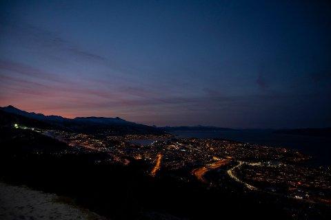 Slik ser byen ut fra turen inn til Tøttadalen