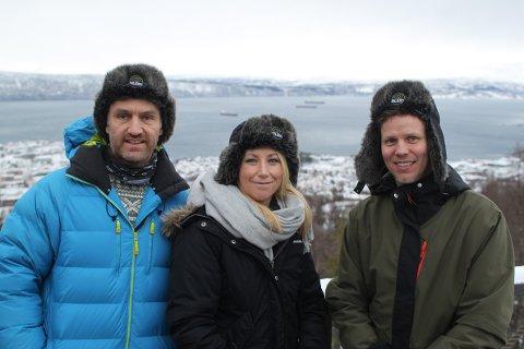 SKRYTER AV NARVIK: Per-Erik Haga, Christina Lie og Tommy Pettersen.