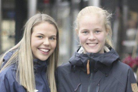 OPPSTART: Vilde Fjelldal, til venstre, og Katrine Winnem Jørgensen kan snart starte ordinær trening i Røa.