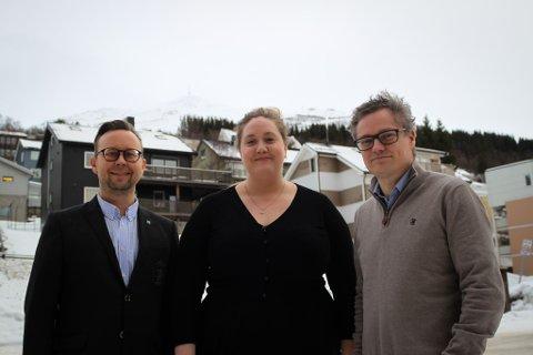 DEN NYE LEDERGRUPPA: F.v.: Morten Koster Martinussen, Silja Björklund Einarsdóttir og Christian S. Andersen.