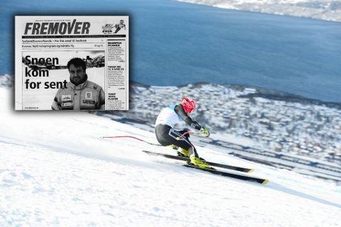 Kontraster: For 18 år siden mistet Narvik junior-VM grunnet snømangel. I 2020 er det nesten i overkant mye snø i fjellet.
