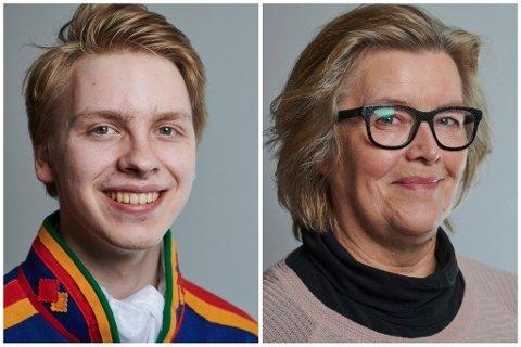 Nathaniel Holan Larsen til venstre, May Kristin Fjell til Høyre