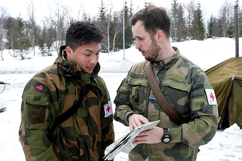 AVSLUTTER ØVELSEN: Soldater fra Brigade Nord fotografert under Cold Response. I disse dager returnerer soldatene til leir.