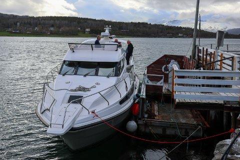 NY: 1. juni 2020 var den nye hurtigbåten klar for drift i regi av Evenesbuss AS. Arkivfoto