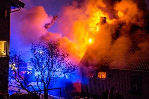 Januar og desember er de store brannmånedene i Norge. Foto: Oslo brann- og redningsetat.