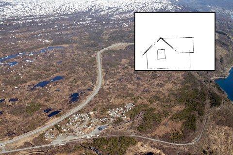 FRARÅDES: Statsforvalteren i Nordland fraråder Narvik kommune å gi dispensasjon for å omgjøre ei gjeterbu (innfelt skisse) på Herjangsfjellet til fritidsbolig.