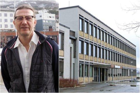 KOMMUNEOVERLEGE: Thomas Hultstedt besluttet å ikke iverksette tiltak på studiested Frydenlund i forbindelse med et bekreftet smittetilfelle hos en elev.