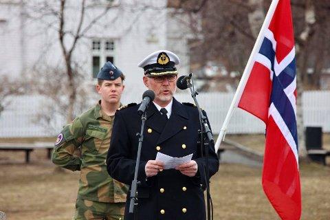 HOVEDTALER: Hovedtaler var kommandør og sjef for HV16, Jon-Ivar Kjellin.