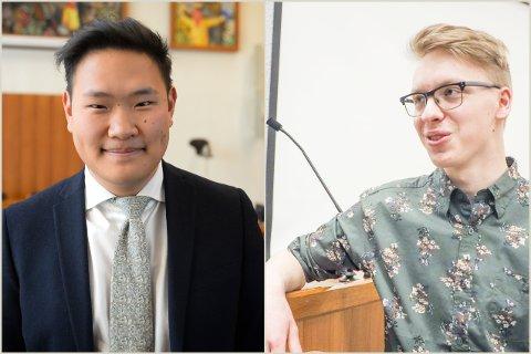 VIL HA SVAR: Arbeiderpartiets Nathaniel Holan Larsen (til høyre) får støtte fra Daniel Skjevik-Aasberg (H). «Vi har alle et ansvar for å ta kampen videre slik at vi kan si aldri mer 22. juli og faktisk mene det,» skriver Skjevik-Aasberg i en interpellasjon.