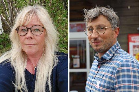 BUTIKKSJEFER: Heidi Tapio og Petter Nilsson leder hver sin butikk på andre siden av grensen. De forteller om en rolig start på grensehandelen.