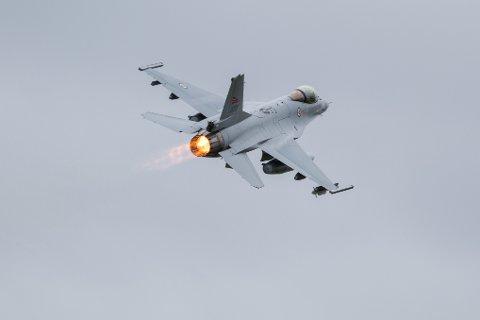 I to dager skal F-16 jagerfly bare lage bråk rundt Evenes.
