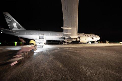 SOM PLANLAGT: Torsdag går nok et laksefly fra Evenes. Lakseeksporten vil ikke bli påvirket av kampflyøvelsen..