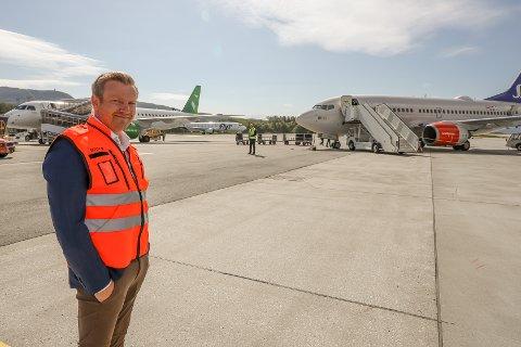 Lufthavnsjef Geir-Olav Skogstad på Evenes.