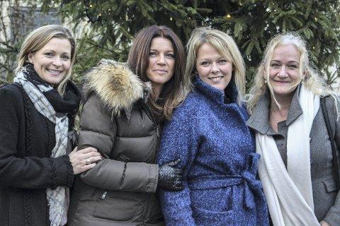 Rørende: f.v. Mette R. Koldrup, Linda Berglund, Lene Albertsen og Nina K. Stensaa er rørt over medmenneskeligheten Horten har vist i juletida.Foto: Jannicke Due