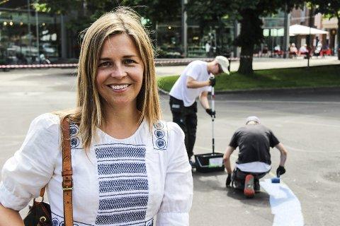 Spent: Kultursjef Silje Vaadal tror forskjønningen på torget vil skape en ny og finere atmosfære.Alle foto: Jannicke Due