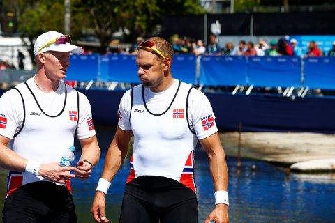 SKUFFET: Kjetil Borch og Olaf Tufte var ikke fornøyd med finaleløpet, som ga de en bronse i OL.