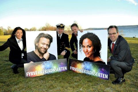 INVITERER: Linda Berglund, Terje Gravningsmyhr, Torgeir Lorentzen og Ole-Jacob Thorkildsen får solisthjelp av Kåre Conradi og Haddy Njie i juni neste sommer.