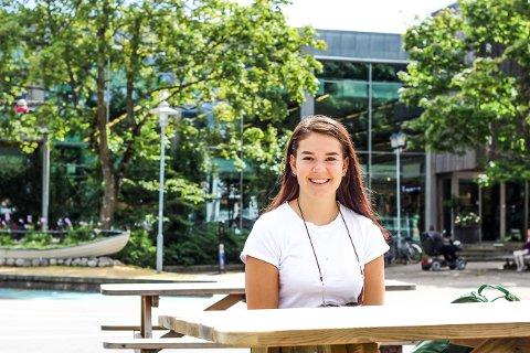GLEDER SEG: 2 august reiser Alexandra Hammer Johnsen (17) fra Horten til USA på utveksling.