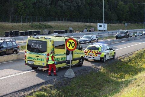 NØDETATER: Alle nødetatene rykket ut til ulykken.