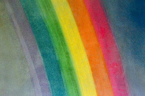 TEGNING: Det er regnbuer arrangørene vil ha mange av.