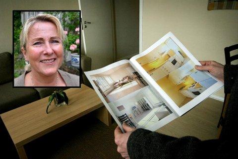 PÅ VISNING: Stadig flere vil gå på privat visning, og dropper fellesvisningen, forteller eiendomsmegler Mari-Anne Halvorsen i Eie Eiendomsmegling.