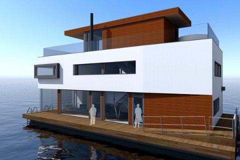 TRE TYPER: I Horten skal boligkjøperne kunne velge mellom tre typer bolig, i ulike størrelser. Dette er en illustrasjon på hvordan det kan bli.