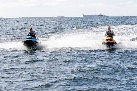 HELST IKKE: Båtforeningen pluggen vil ikke prioritere eiere av vannscootere, når ledige plasser deles ut.