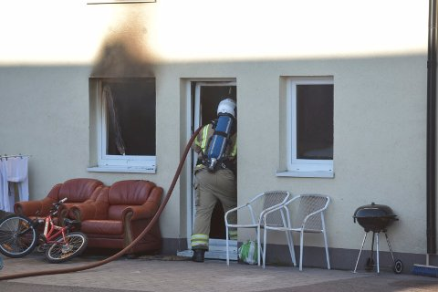 SLUKKET: Meldingen om brannen kom 19.09. 40 minutter senere var den slukket.