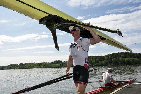 GOD FORBEREDT: Kjetil Borch har ligget på Årungen og trent fram mot VM. Hortensroeren ser med optimisme fram mot VM.