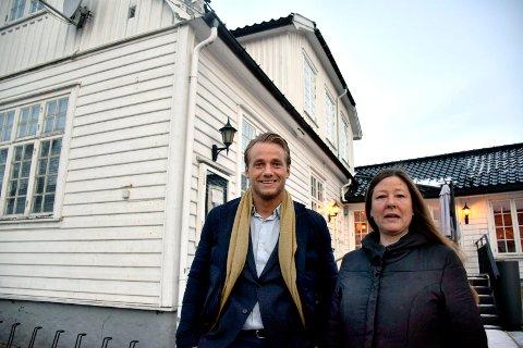 Eirik Østern og Gry Jemtland mener den nye restauranten vil få en mer synlig plassering i Storgata.
