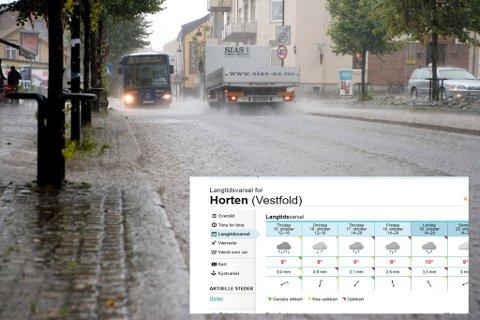 FUKTIG: Man kan vente seg mye nedbør denne uka.