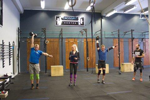 Deltakerne fra CrossFit Horten deltar mest for å slå egne tider og rekorder.