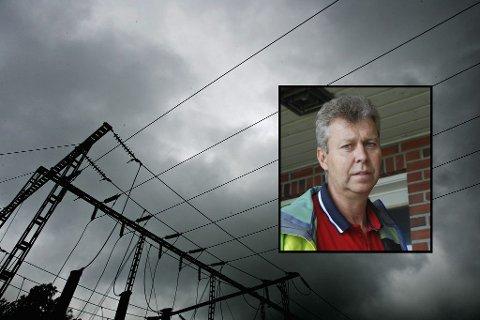 HYPPIG: Kommunalsjef teknisk, Geir Kjellsen, har sammen med kommunedirektør Ragnar Sundklakk hatt møte med Skagerak Energi om de hyppige strømbruddene. De er bekymret.