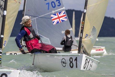 PÅSKESEILER: Lars Johan Brodtkorb la seilere fra ti nasjoner bak seg på Gardasjøen i Italia. Bildet er hentet fra et tidligere VM i Finnjolle.