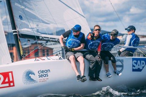 FAVORITTER: Åsgårdstrand-seilerne avsluttet sterkt i den første serierunden i seilsportdligaen, og fortsetter de slik på Hankø, kan det bli seier der.