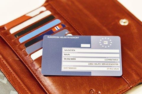 NYTTIG: Hvis uhellet er ute, lønner det seg å ha skaffet seg dette kortet før man reiser på ferie i Europa.