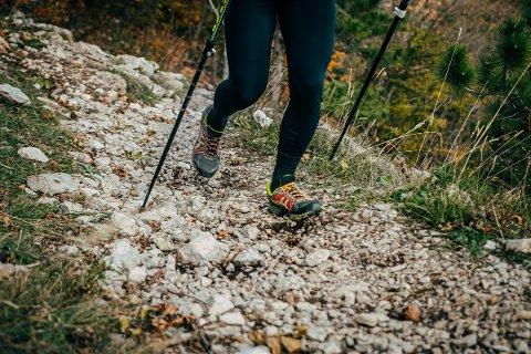 SKOGSLØYPE: Å gå tur er god trim. Nå inviterer Horten marsjklubb til en runde i skogen. (Illustrasjonsfoto: Colourbox)