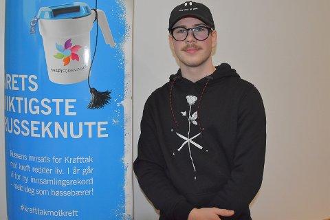VIKTIG SAK: Tobias Andreassen håper at så mange som mulig bidrar til årets innsamlingsaksjon. – Vi vil skape den beste aksjonen i Horten, sier Andreassen.