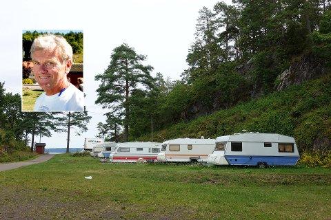USIKKER SITUASJON: Innehaver av Løvøya Camping, Trond Schmidt, sier de ikke blir direkte berørt foreløpig. Men hvis campingen må holde stengt utover sommeren, kan det blir dramatisk.