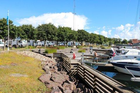 POTENSIALE: Horten Høyre ønsker å flytte biblioteket ned mot vannet, for å utvikle havna som et attraktivt sted.