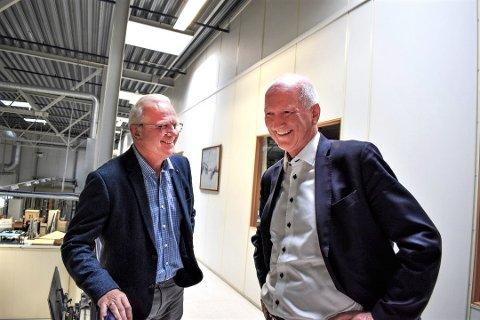 100 NYE ANSATTE: Geir Henriksen og Øyvind Sedivy hos Norautron kan si seg godt fornøyd med utviklingen de har opplevd de siste årene.