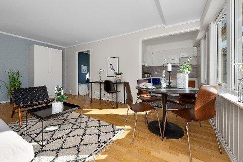 TIL SALGS: Denne leiligheten i Torggata 32A er til salgs.  Prisantydningen er på 1 935 012 inkludert fellesgjeld.