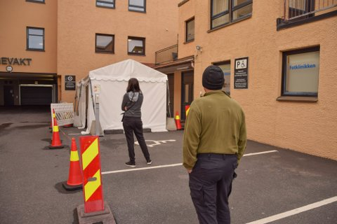 ÉN SMITTET: I løpet av helgen ble 145 personer testet for korona i Horten.