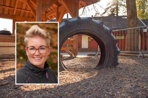 BARNEHAGE: Styrer Birgitte Ørum Østerbø (innfelt) er imponert over hvor godt kommunen følger opp alle barnehagene under pandemien – også de som er i privat eie.